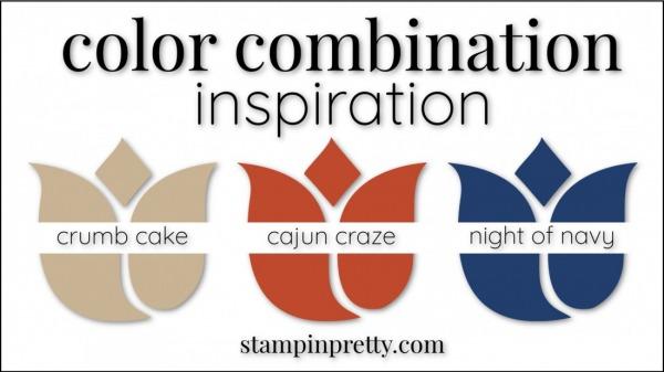 Color Combinations Cajun Craze, Crumb Cake, Night of Navy