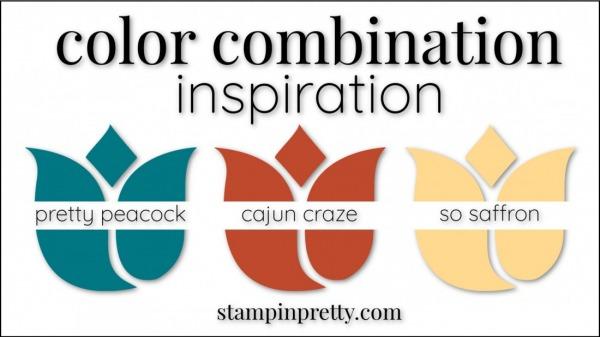 Color Combinations Cajun Craze, Pretty Peacock, So Saffron
