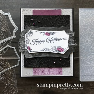 Create this Happy Halloween Card using the Hallows Night Magic Bundle from Stampin' Up! Card by Mary Fish, Stampin' Pretty