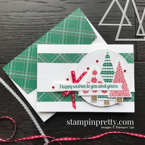 Create this card using the Tree Angle Stamp Set from Stampin' Up! Notecard by Mary Fish, Stampin' Pretty