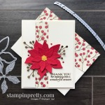 Create this holiday card using the Poinsettia Place Suite from Stampin