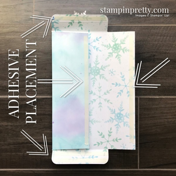 How to create a slimline #10 envelope to hold slimline cards. Mary Fish, Stampin' Pretty
