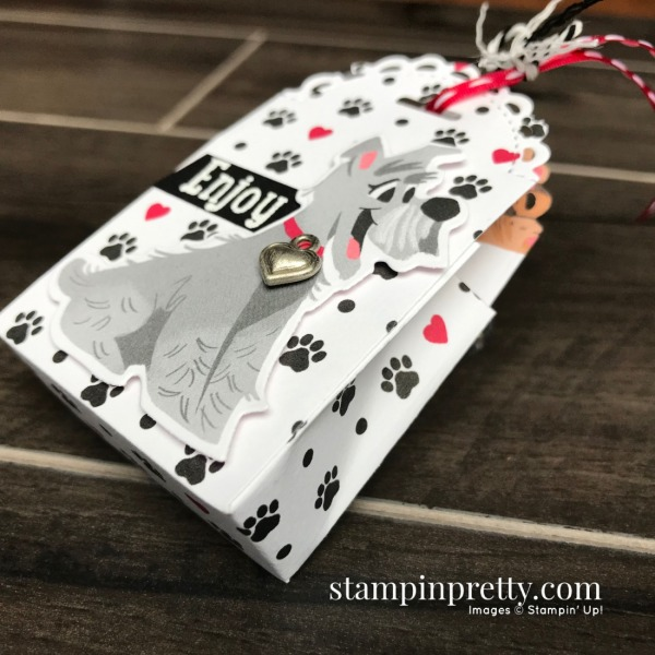 Little Treat Box Dies & Playful Pets Bundle from Stampin' Up! Dog Treat Holder from Mary Fish, Stampin' Pretty (1)