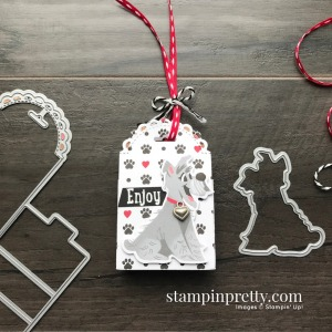 Little Treat Box Dies & Playful Pets Bundle from Stampin' Up! Dog Treat Holder from Mary Fish, Stampin' Pretty