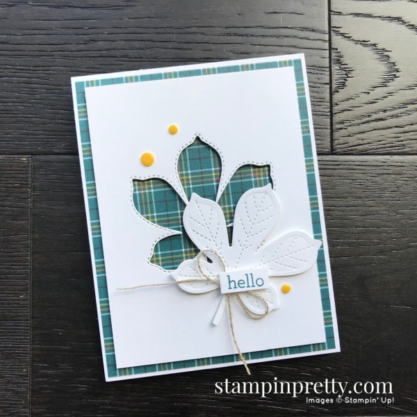Love of Leaves Bundle from Stampin' Up! Fall Hello Card created by Mary Fish, Stampin' Pretty