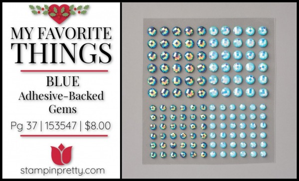 My Favorite Things - BLUE ADHESIVE-BACKED GEMS Stampin' UP!