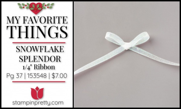 My Favorite Things - Snowflake Splendor Ribbon by Stampin' UP!