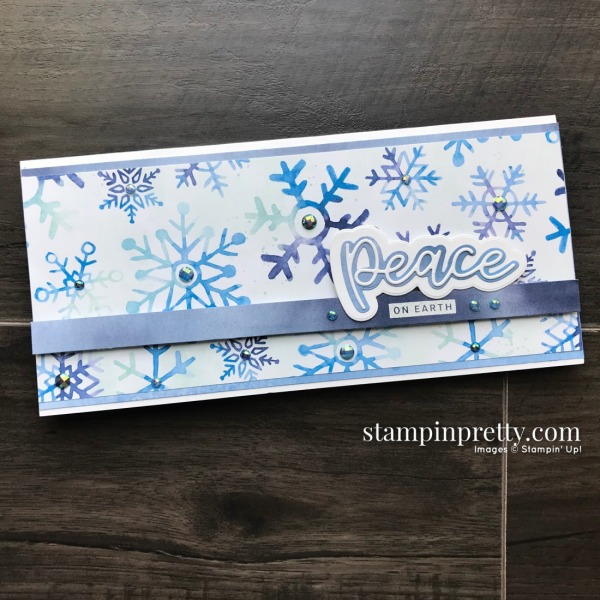 Snowflake Splendor from Stampin' Up! Slimline Card by Mary Fish, Stampin' Pretty (1)