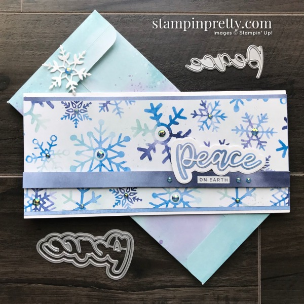Snowflake Splendor from Stampin' Up! Slimline Card by Mary Fish, Stampin' Pretty