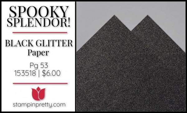 Black Glitter Paper 153518 $6.00