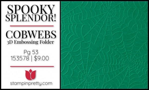 Cobwebs 3D Embossing Folder 153578 $9.00