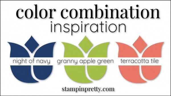 Color Combinations Night of Navy, Granny Apple Green, Terracotta Tile