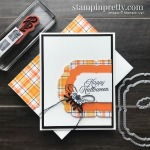 Create this Halloween Card using the Plaid Tidings Suite from Stampin