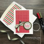 Create this Holiday Card using the Wrapped in Christmas Stamp Set from Stampin