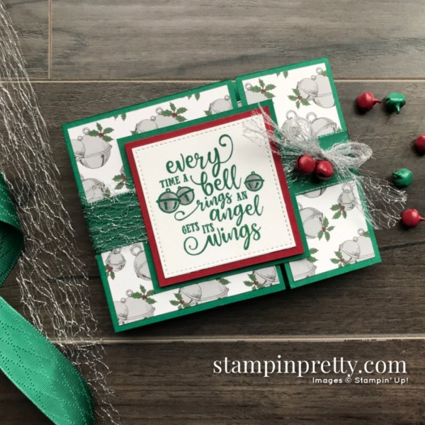 Create this card using the Christmas Means More Stamp Set from Stampin' Up! Christmas Card by Mary Fish, Stampin' Pretty