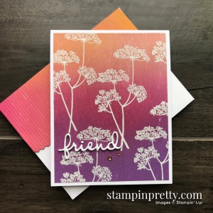 Create this card using the Queen Anne's Lace Stamp Set from Stampin' Up! Card by Mary Fish, Stampin' Pretty!