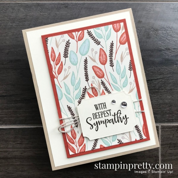 Gilded Autumn Specialty Designer Series Paper from Stampin' Up! Sympathy Card by Mary Fish, Stampin' Pretty