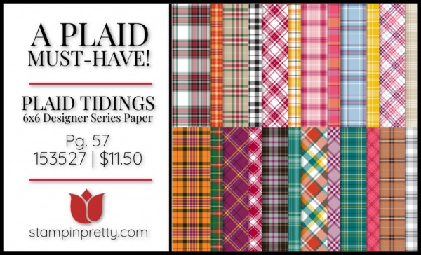 Plaid Tidings 6x6 Designer Series Paper from Stampin' Up! 153527 Purchase Online with Mary Fish, Stampin' Pretty