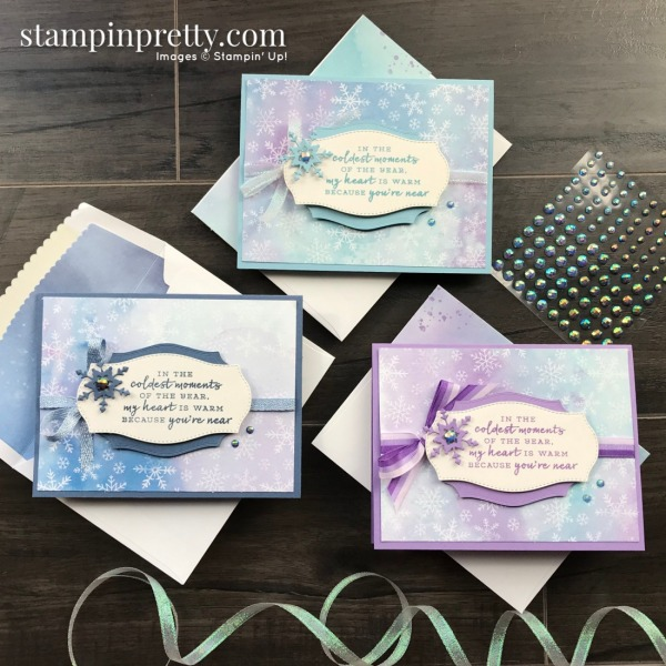 Snowflake Splendor Suite Collection from Stampin' Up! Trio of Friend Cards by Mary Fish, Stampin' Pretty