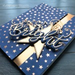 Brightly Gleaming Specialty Designer Series Paper, Stitched Stars, and Joy Dies from Stampin