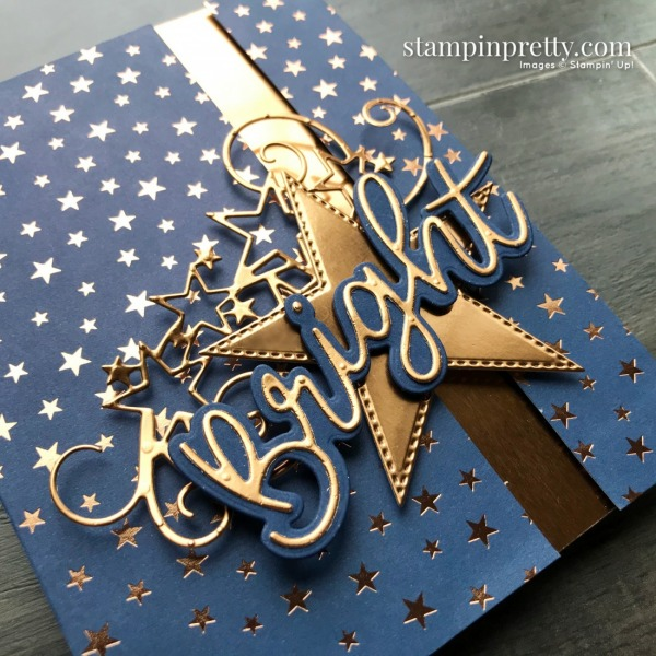 Brightly Gleaming Specialty Designer Series Paper, Stitched Stars, and Joy Dies from Stampin' Up! Card by Mary Fish, Stampin' Pretty