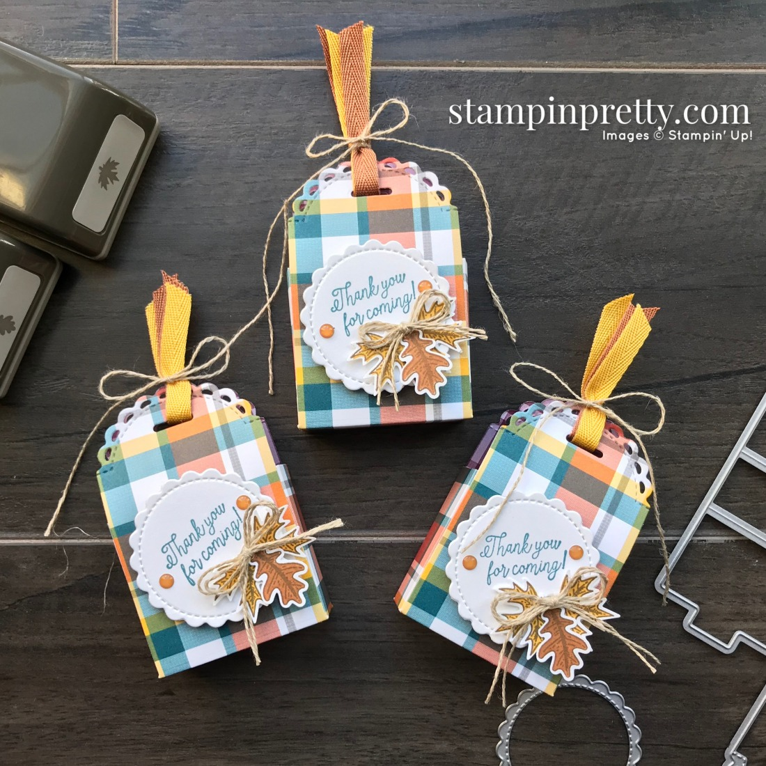 Create these Thanksgiving Favors using the Little Treats Bundle by Stampin' Up! Created by Mary Fish, Stampin' Pretty