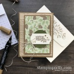 Create this Masculine Birthday Card using Poinsettia Place Designer Series Paper from Stampin