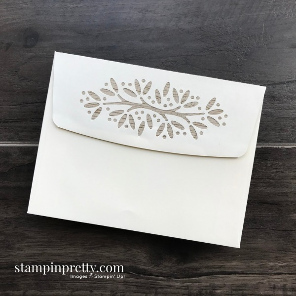 Create this Masculine Envelope using Envelopes Dies and Poinsettia Place Designer Series Paper from Stampin' Up! Card by Mary Fish, Stampin' Pretty