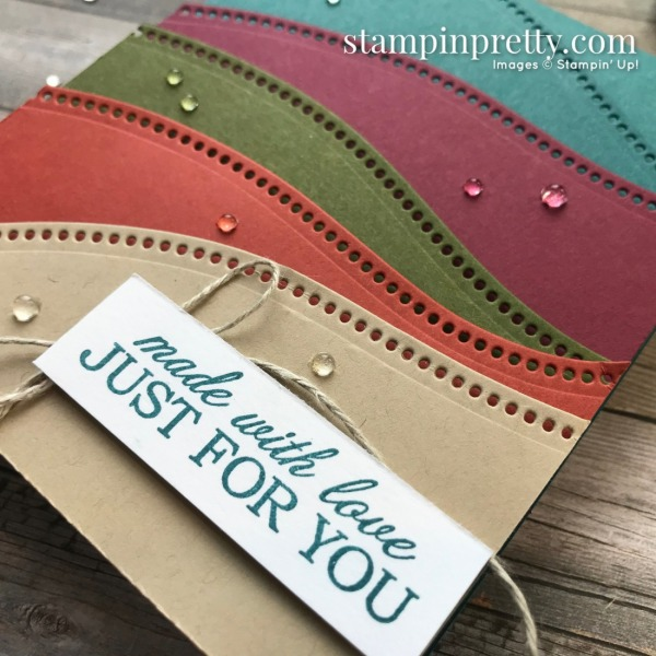 Create this card using the Curvy Dies from Stampin' Up! Created by Mary Fish, Stampin' Pretty