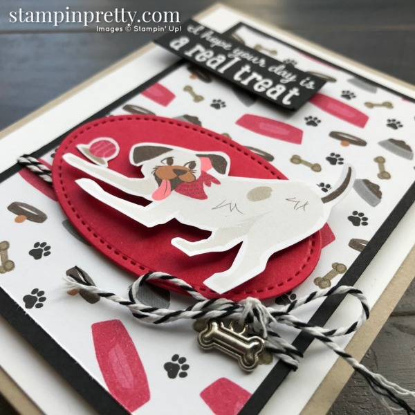 Create this card using the Playful Pets Suite from Stampin' Up! Card by Mary Fish, Stampin' Pretty