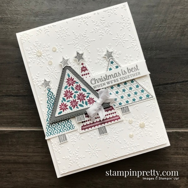 Create this cards using the Tree Angle Stamp Set from Stampin' Up! Card by Mary Fish, Stampin' Pretty