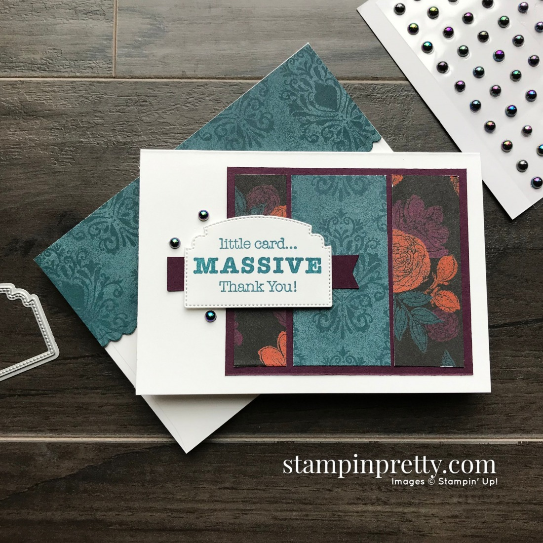 Create this notecard using the Magic In This Night Designer Series Paper from Stampin' Up! Card by Mary Fish, Stampin' Pretty