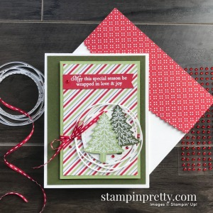 Heartwarming Hugs Designer Series Paper and Perfectly Plaid Stamp Set by Stampin' Up! Card by Mary Fish, Stampin' Pretty