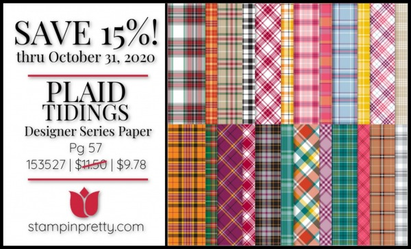 Plaid Tidings 6x6 DSP $9.78 On Sale Through October 31