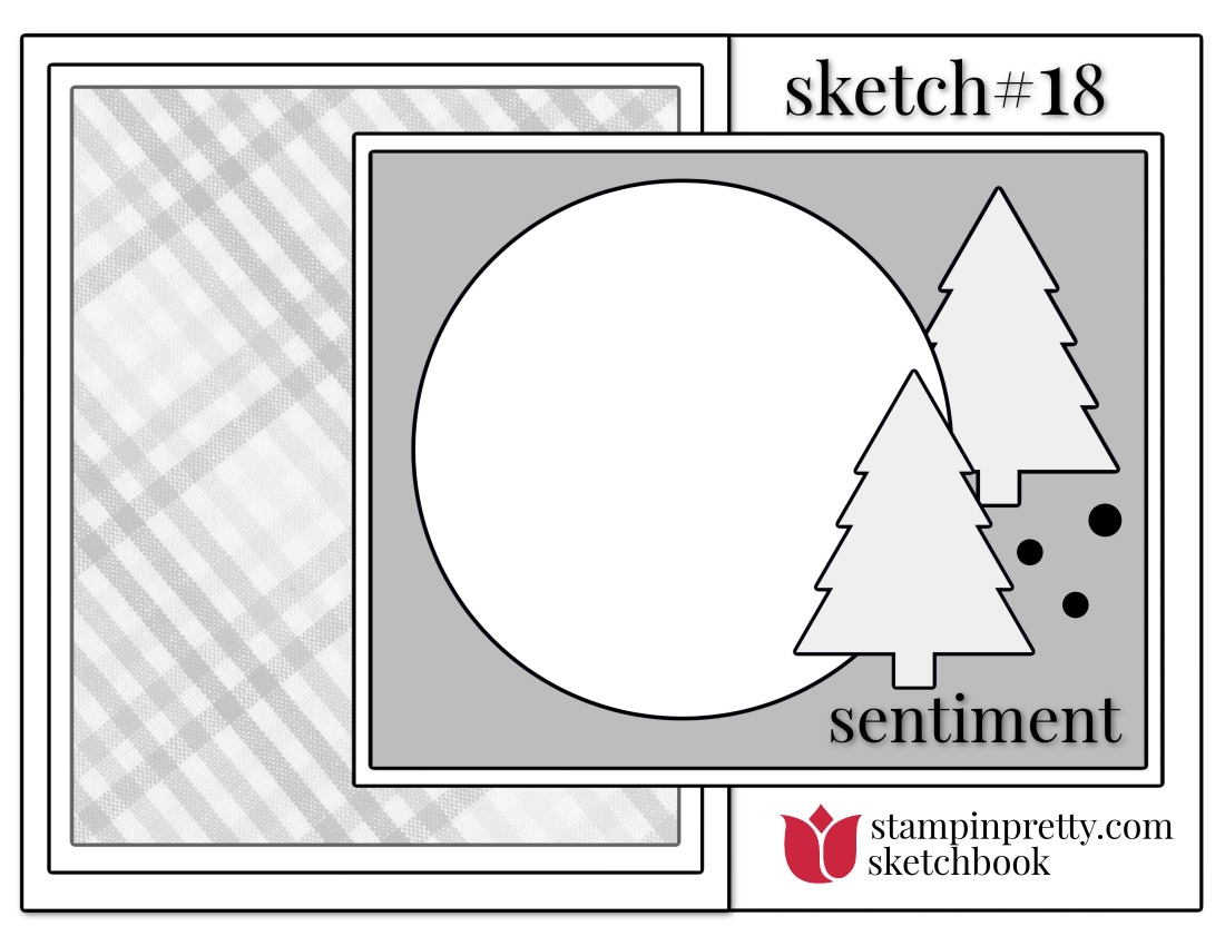 Stampin' Pretty Sketchbook Sketch 18