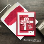 Wrapped for You Holiday Card using the Gift Wrapped Bundle from Stampin