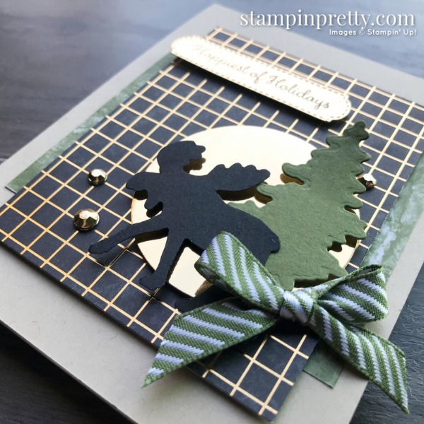 Create this card using Merry Moose Bundle from Stampin' Up! Card by Mary Fish, Stampin' Pretty