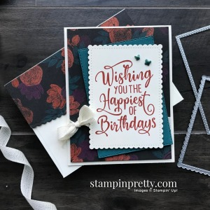 Create this card using the Happiest of Birthdays Stamp Set by Stampin' Up! Card by Mary Fish, Stampin' Pretty