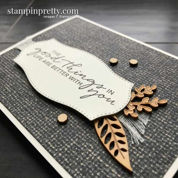 Create this card using the In Good Taste Suite from Stampin' Up! Card by Mary Fish, Stampin' Pretty