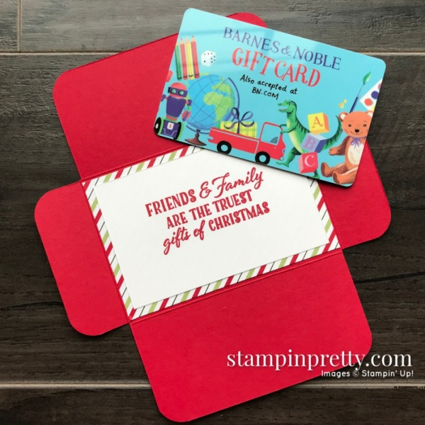 Gift Card Holder using the Heartwarming Hugs Designer Series Paper from Stampin' Up! Mary Fish, Stampin' Pretty