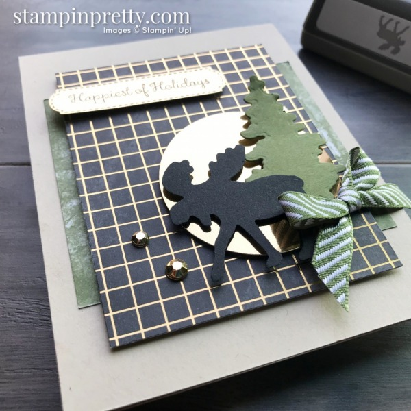Merry Moose Bundle from Stampin' Up! Card by Mary Fish, Stampin' Pretty