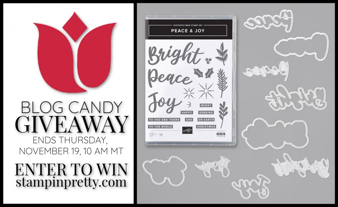 Blog Candy Giveaway Stampin Up Peace Joy Bundle Stampin Pretty