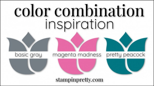 Stampin' Up! Color Combinations by Stampin' Pretty Magenta Madness, Basic Gray, Pretty Peacock