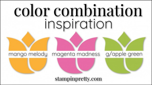 Stampin' Up! Color Combinations by Stampin' Pretty Magenta Madness, Mango Melody, Granny Apple Green