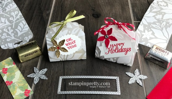 Create these Hershey Nugget Favors using Stampin' Up! Products. Created by Mary Fish, Stampin' Pretty