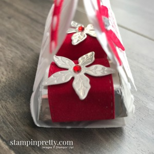 Create this Hershey Nugget Treat Holder Using Stampin' Up! Products. Mary Fish, Stampin' Pretty