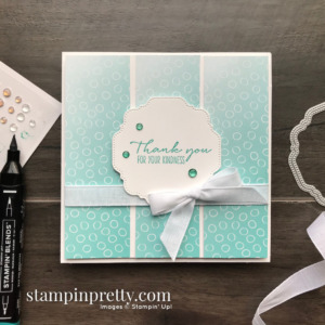 Oh So Ombre Designer Series Paper & Dragonfly Garden Stamp Set From Stampin' Up! Card by Mary Fish, Stampin' Pretty