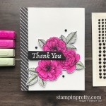 SNEAK PEEK! Create this card using the True Love Designer Series Paper and Matte Black Dots by Stampin