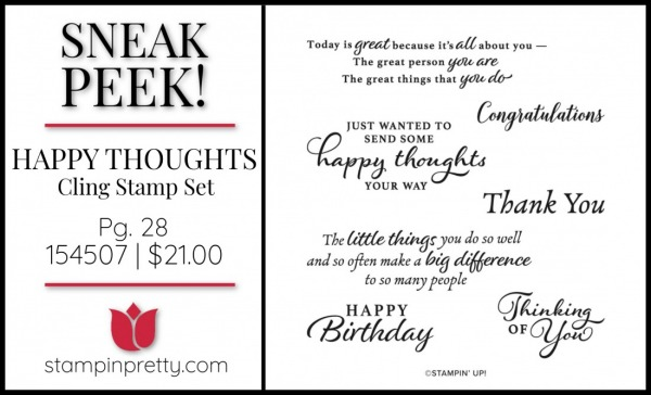 SNEAK PEEK! Happy Thoughts Cling Stamp Set from Stampin' Up! - Available January 5, 2021 from Mary Fish, Stampin' Pretty SU Image