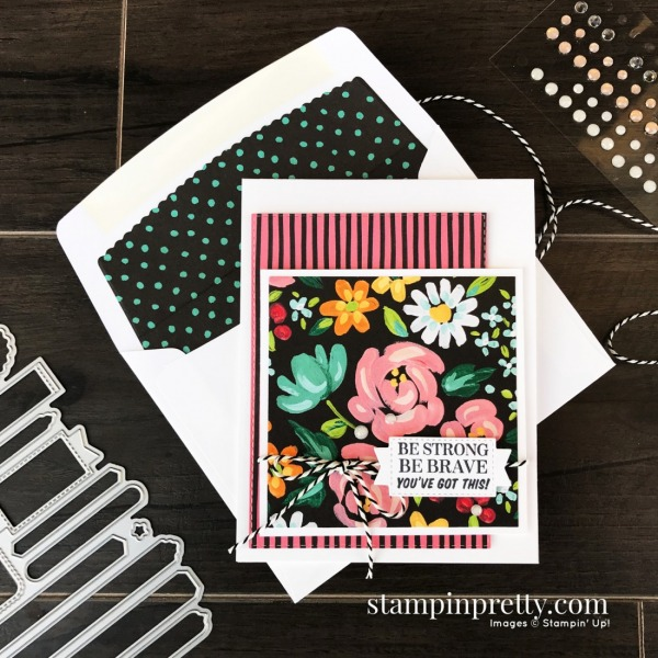 SNEAK PEEK! Many Messages Bundle and Flower & Field Designer Series Paper. Card by Mary Fish, Stampin' Pretty!